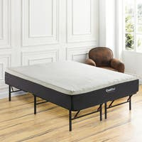 PostureLoft Alese 12-inch King-size Cool Gel Memory Foam Mattress and Frame Set
