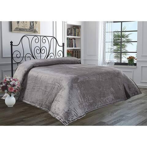 Chiara Rose Super Soft Throw Bed Blanket Flannel Fleece Cozy Plush Velvet Faux Fur Fluffy Lightweight Solid Colors