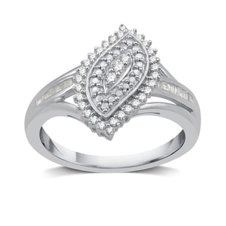 1/4 CTTW Diamond Fashion Ring In Sterling Silver (I-J, I3)