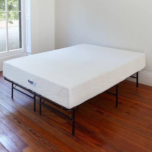 postureloft primrose 8 inch full size cool gel ventilated gel memory foam mattress and frame set. Black Bedroom Furniture Sets. Home Design Ideas