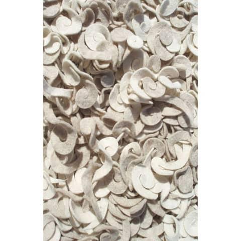 The Rug Market Spiral Ivory Felt Area Rug