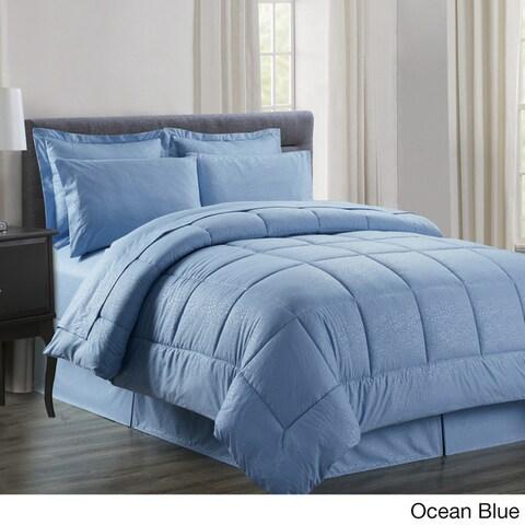 8-piece Embossed Vine Comforter Set