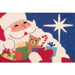 "Jellybean Jolly Santa Doormat Rug (21"" x 33"")"