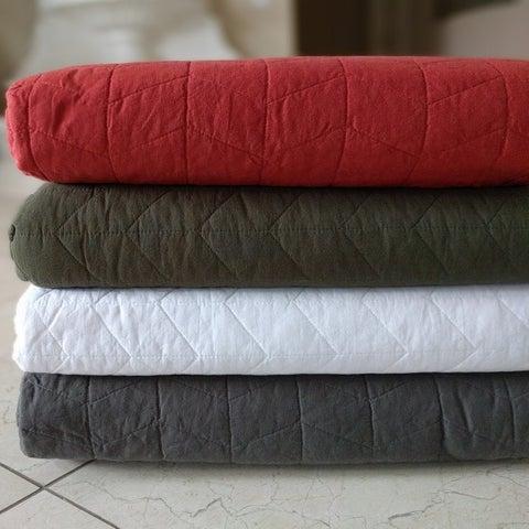 Rio Madrid 100 Cotton Pre-washed Reversible 3 Piece Quilt Set