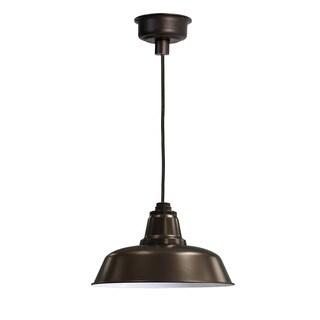"10"" Goodyear LED Pendant Light in Mahogany Bronze"