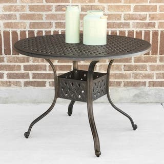 "42"" Round Cast Aluminum Dining Table - Antique Bronze