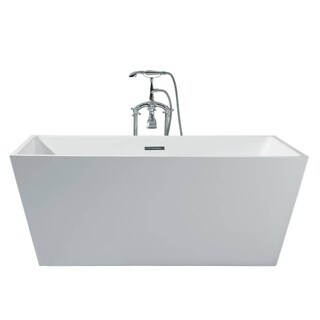 Ariel Platinum Verona White Acrylic 67-inch Rectangle Bathtub