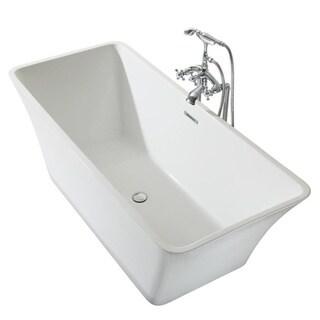 Ariel Platinum Sedona White Acrylic 67-inch Rectangular Bathtub