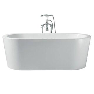 Ariel Platinum Charlotte White Acrylic 67-inch Oval Bathtub