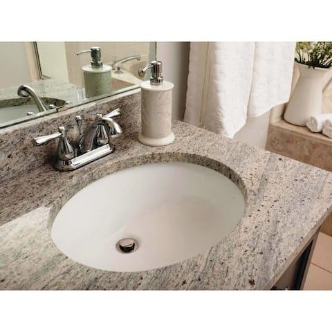 19-3/8-inch European Style Oval Shape Porcelain Ceramic Bathroom Undermount Sink