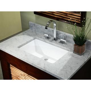 20-3/4-inch European Style Rectangular Shape Porcelain Ceramic Bathroom Undermount Sink