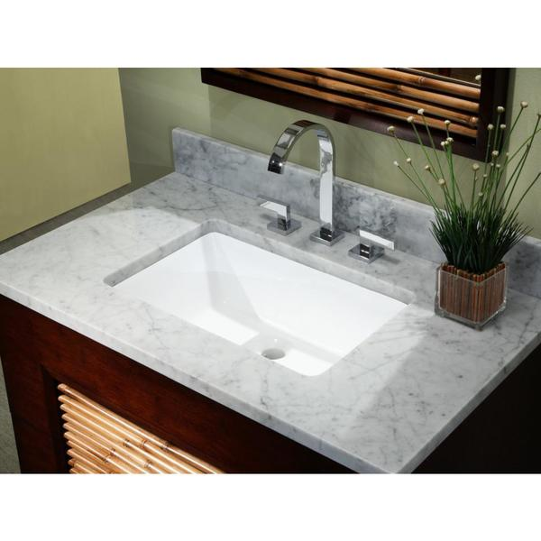 20 3/4 Inch European Style Rectangular Shape Porcelain Ceramic Bathroom Undermount  Sink