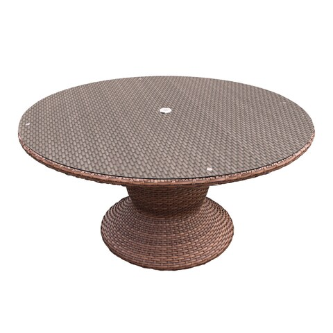 Outdoor Home Bayou Wicker 60-inch Outdoor Patio Dining Table
