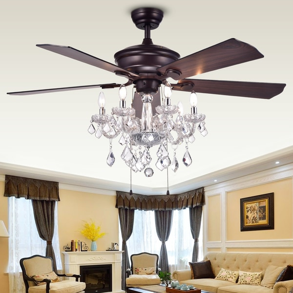 Black Chandelier Fan: Warehouse Of Tiffany Havorand 52-inch 5-blade Ceiling Fan