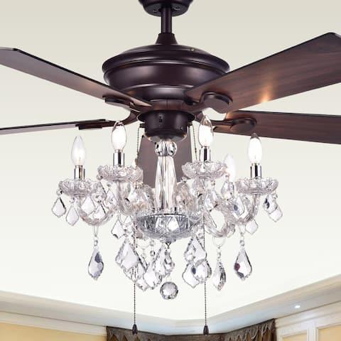 Warehouse of Tiffany Havorand 5-blade Ceiling Fan - Brown