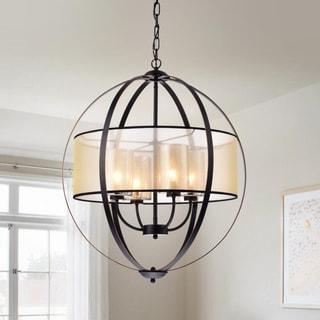 Bastien Metal 24-inch 4-light Strap Globe Pendant