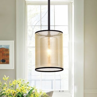 Warehouse of Tifany Corman Oil Rubbed Bronze Double Shade Hanging Pendant