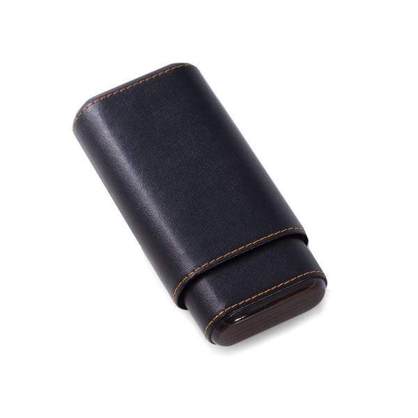 Genuine Leather 3 Cigar Holder