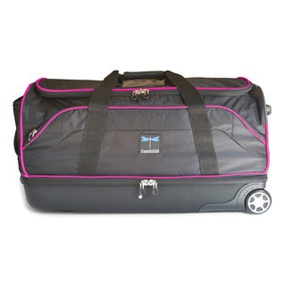Travolution Black/Pink 28-inch Wheeled Drop-bottom Duffel with Garment Rack