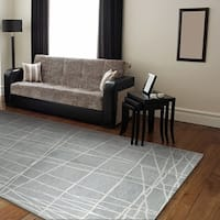 Paige Blue Wool Hand-tufted Area Rug - 3'9 x 5'9