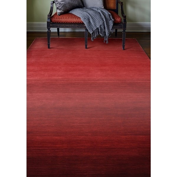 Santa Red Hand Loomed Contemporary Area. Opens flyout.