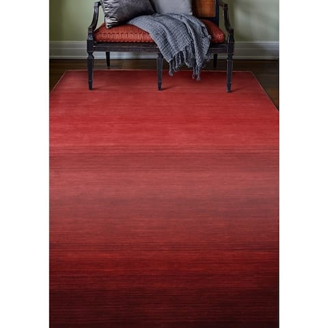 Santa Red Hand Loomed Contemporary Area