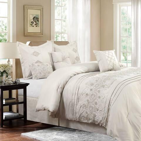 Bedding Set-Registry Collection 7 Piece Comforter Set, Full/Queen