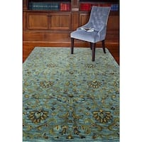 "Katonah Blue Wool Hand-tufted Area Rug - 5'6"" x 8'6"""
