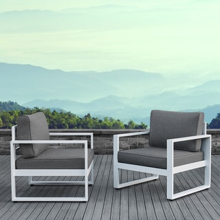 Real Flame Wide Frame Baltic White Chairs (Set Of 2)