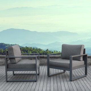 Real Flame Baltic Grey Arm Chairs (Set of 2)