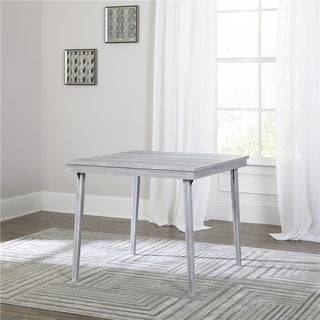 COSCO 36-inch White Wash Wood Folding Table
