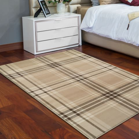 Superior Designer Tartan Area Rug Collection (5' X 8') - 5' x 8'