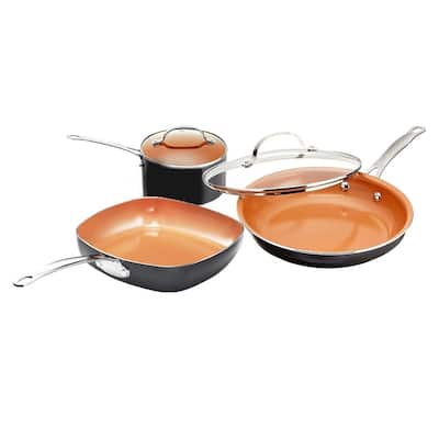 Gotham Steel Aluminum 5-piece Cookware Set - Copper