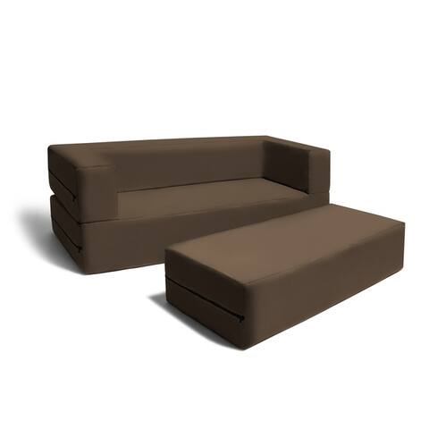 Jaxx Big Kids Convertible Sleeper Sofa & Ottoman Set