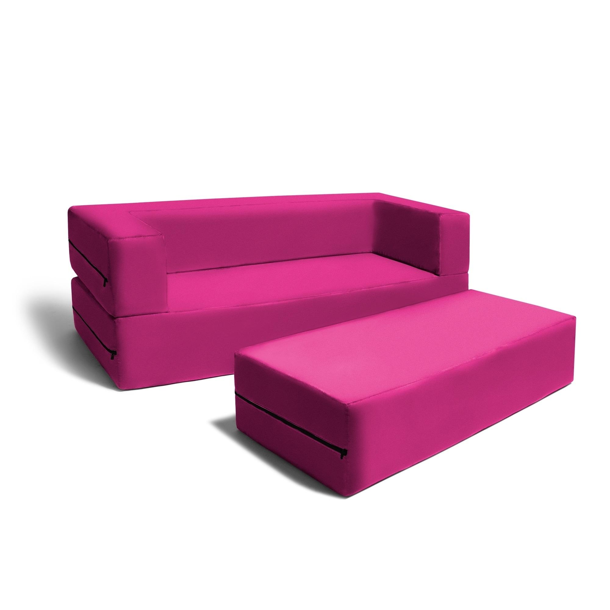 Picture of: Jaxx Big Kids Convertible Sleeper Sofa Ottoman Set Overstock 16604749