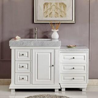 "Silkroad Exclusive 55.5"" Modern Bathroom Vanity Single Sink Cabinet w/ Soft Close V0286WR56R"