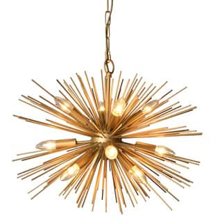 Energy efficient chandeliers for less overstock y decor 12 light chandelier in gold finish aloadofball Images