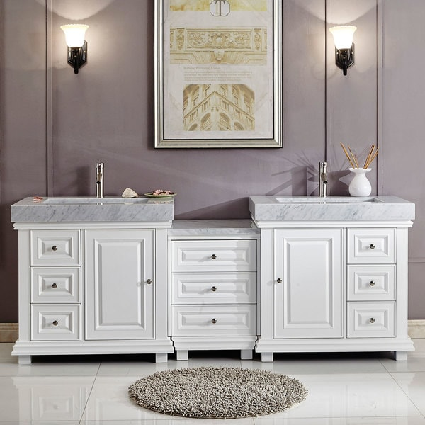 Shop Silkroad Exclusive 90 Modern Bathroom Vanity Double Sink