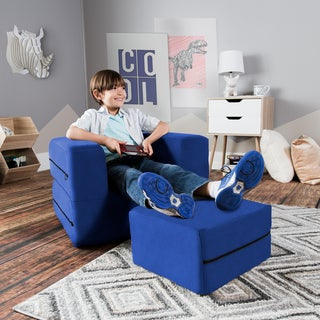 Jaxx Big Kids Convertible Sleeper Chair U0026 Ottoman