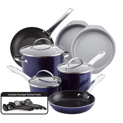 Farberware(r) Luminescence(tm) Aluminum Nonstick 16-Piece Cookware Set