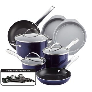 Farberware Luminescence Aluminum Nonstick 16-Piece Cookware Set