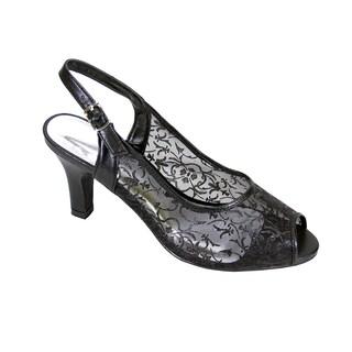 FIC FLORAL Ashley Women Extra Wide Width Peep Toe Heel