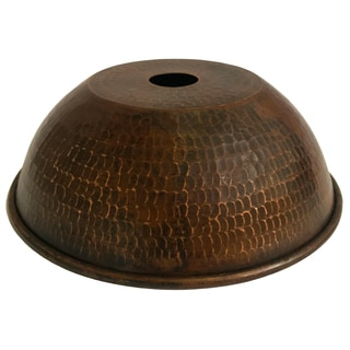 """Hand Hammered Copper 8.5"""" Dome Pendant Light Shade"""