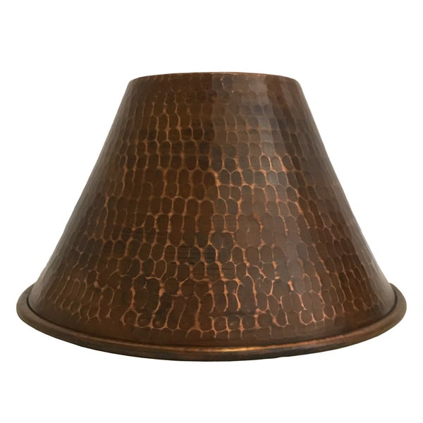 Hand Hammered Copper 7 Cone Pendant Light Shade