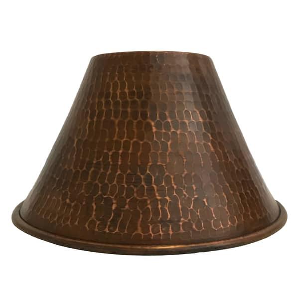 Handmade 7 Copper Cone Pendant Light Shade Mexico