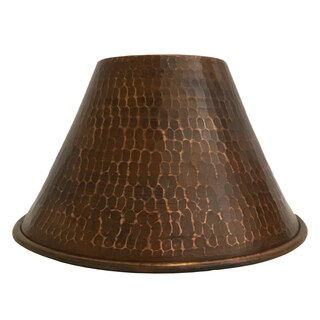 """Hand Hammered Copper 7"""" Cone Pendant Light Shade"""