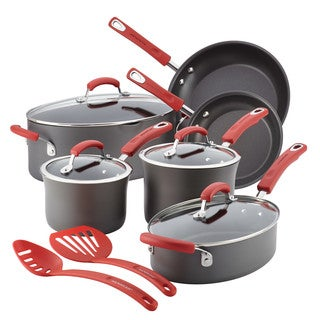 Rachael Ray Hard-Anodized Nonstick 12-Piece Cookware Set