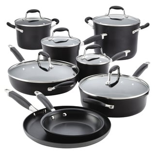 Anolon Advanced Onyx Hard-Anodized Nonstick 14-Piece Cookware Set