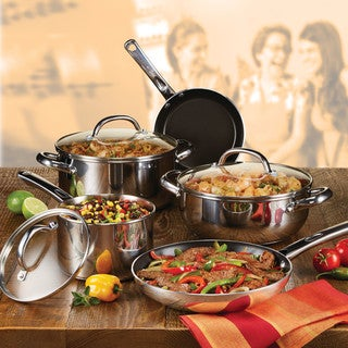 Farberware Buena Cocina Stainless Steel 12-Piece Cookware Set