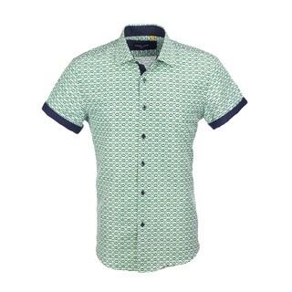Azaro Uomo Men's Short Sleeved Diamond Green
